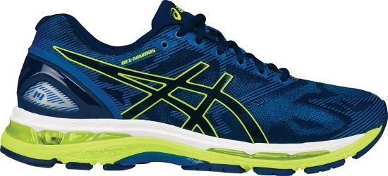 ASICS Men's Gel-Nimbus 19 Road-Running Shoes Indigo Blue/Safety Yellow 11.5