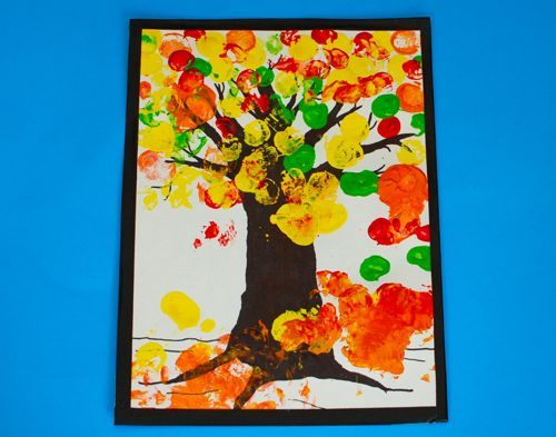 Perhaps an idea for kid craft time to tie in with tree/branch/vine theme. To make less messy, perhaps use thumbprints or commericially made dot art bottles.