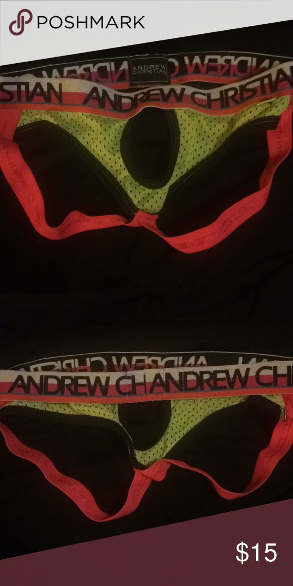 Sexy Andrew Christian Jock Gently used Andrew Christian crotchless jockstrap - super sexy! Open to requests Andrew Christian Underwear & Socks Briefs