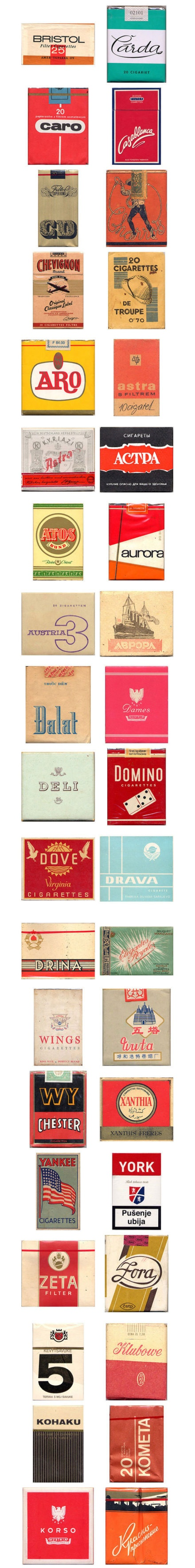 vintage cigarette packaging