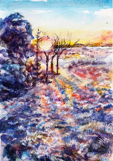 Frost on fire by KariWyldeArt on Easy available now from NZ$28 :)