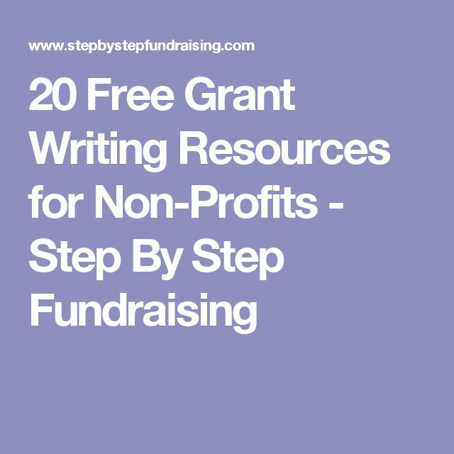 20 Free Grant Writing Resources for Non-Profits - Step By Step Fundraising