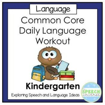 This product was designed as a daily oral language workout for Kindergarten students based on Common Core State Standards. It can be used by a speech-language pathologist or classroom teacher. This is a 10 week program developed to track intervention for