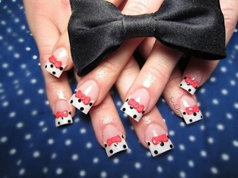 polka dot nails #nailart