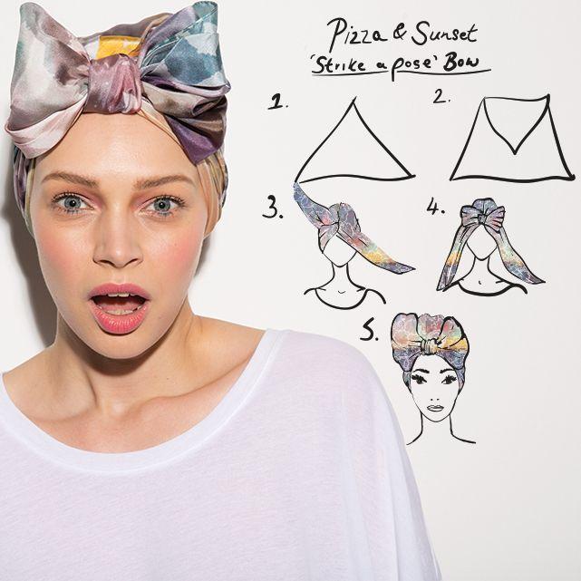 strike a pose bow :: headWrap/ turban ...