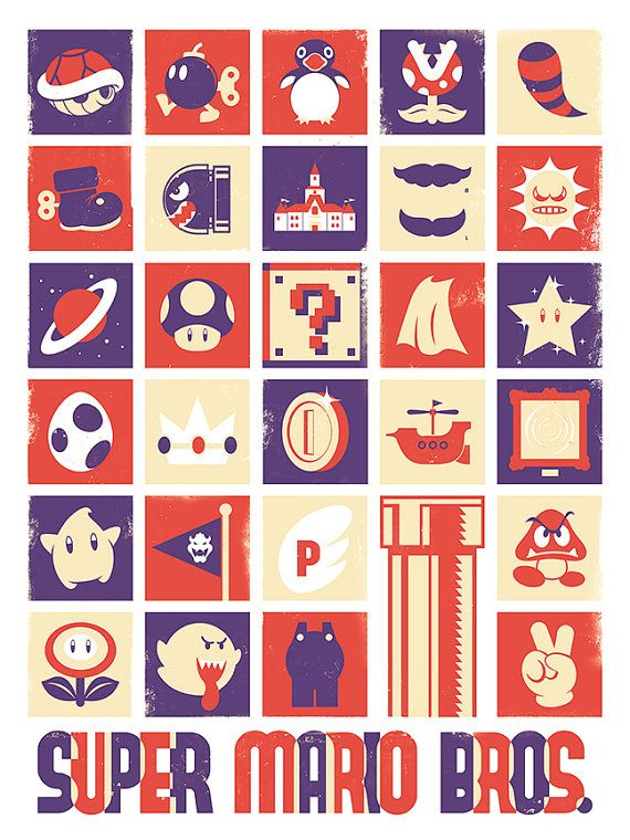 Super Mario Nintendo videojuegos póster lámina por jefflangevin