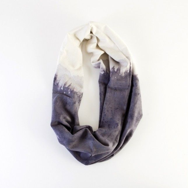 This dip-dyed infinity scarf is beautiful.