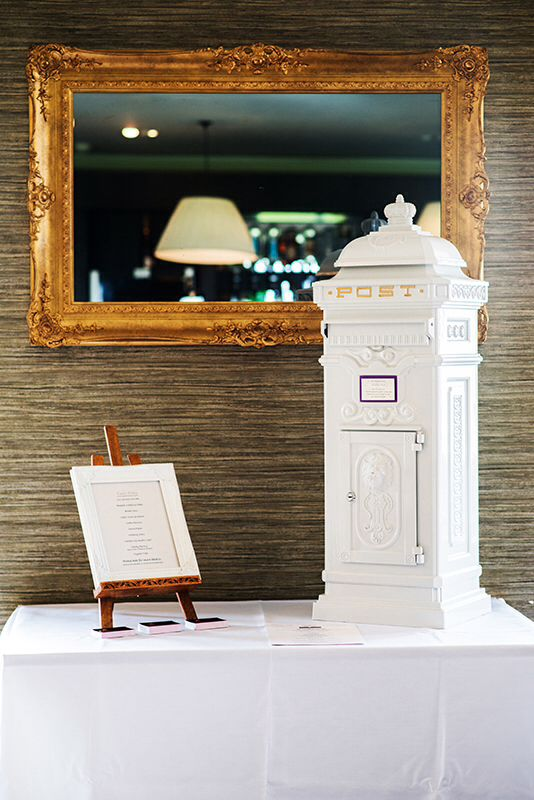 We love this white metal postbox personalised especially for your day from Cakey Wakey #weddingweek Photo courtesy of makowskiphotography.co.uk