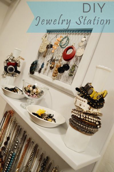 DIY Jewelry Board, from betterafter.net I need this! My jewelry situation is a mess.