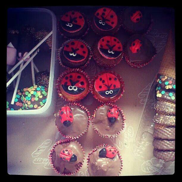 Ladybird buns