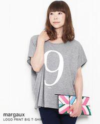 margaux [マルゴー] No.9 BIG Tシャツ 3色