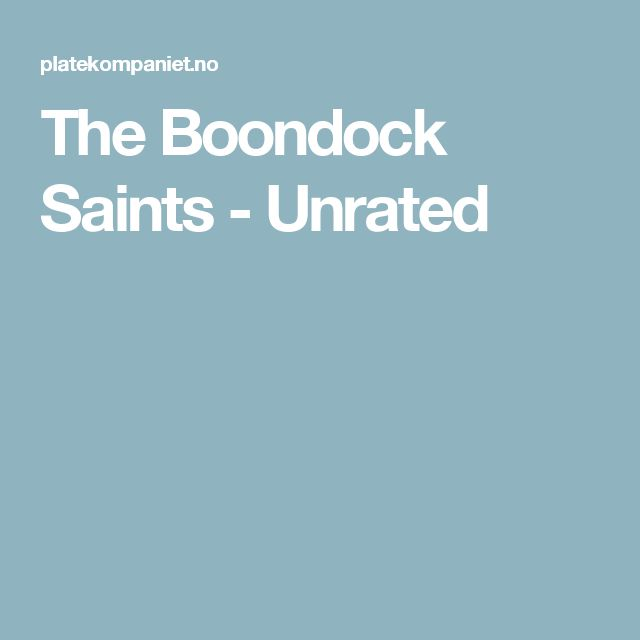 The Boondock Saints - Unrated