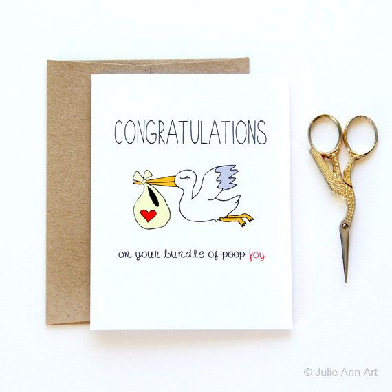 Lustige Glückwunschkarte Herzlichen Glückwunsch zu von JulieAnnArt
