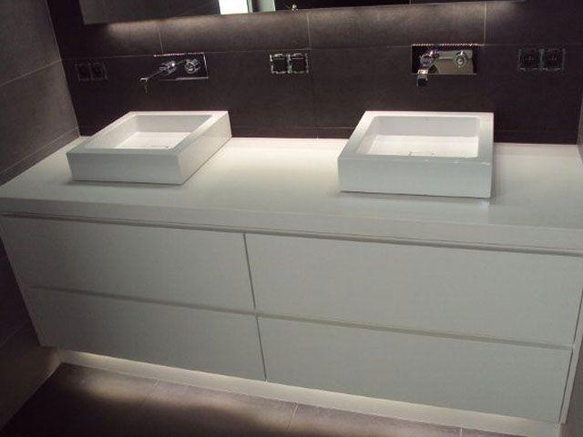 Badkamermeubels modern google zoeken badkamer pinterest modern search and google - Van plan corian ...