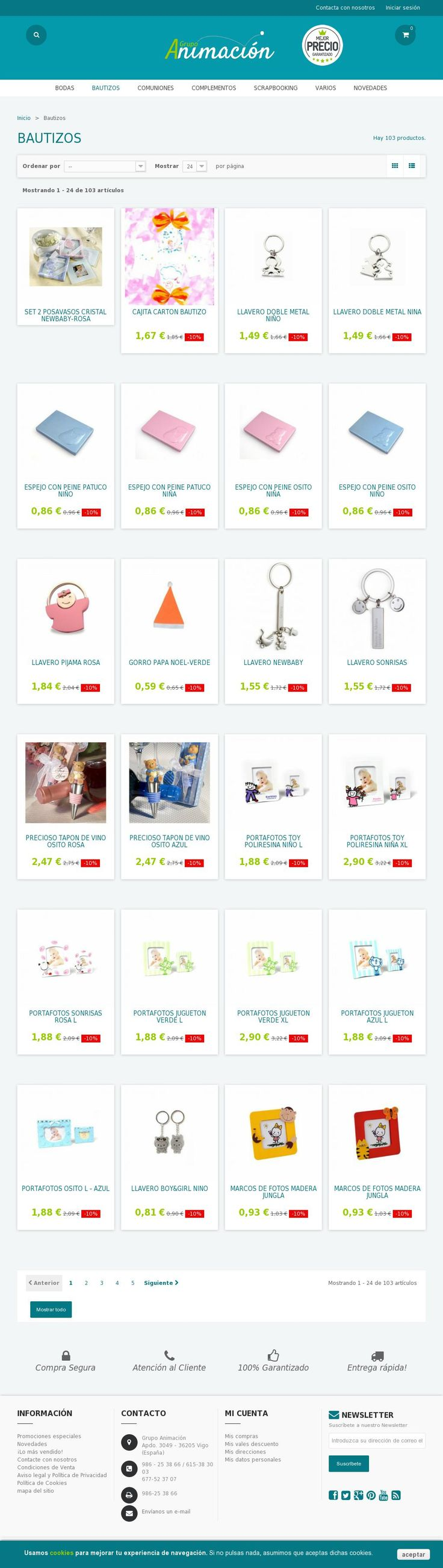 Compras online de Detalles y obsequios para Bautizos.  Tienda de #Regalos economicos en España para #Bautizos. Siguenos en https://www.facebook.com/bodasbautizoscomunionesregalos