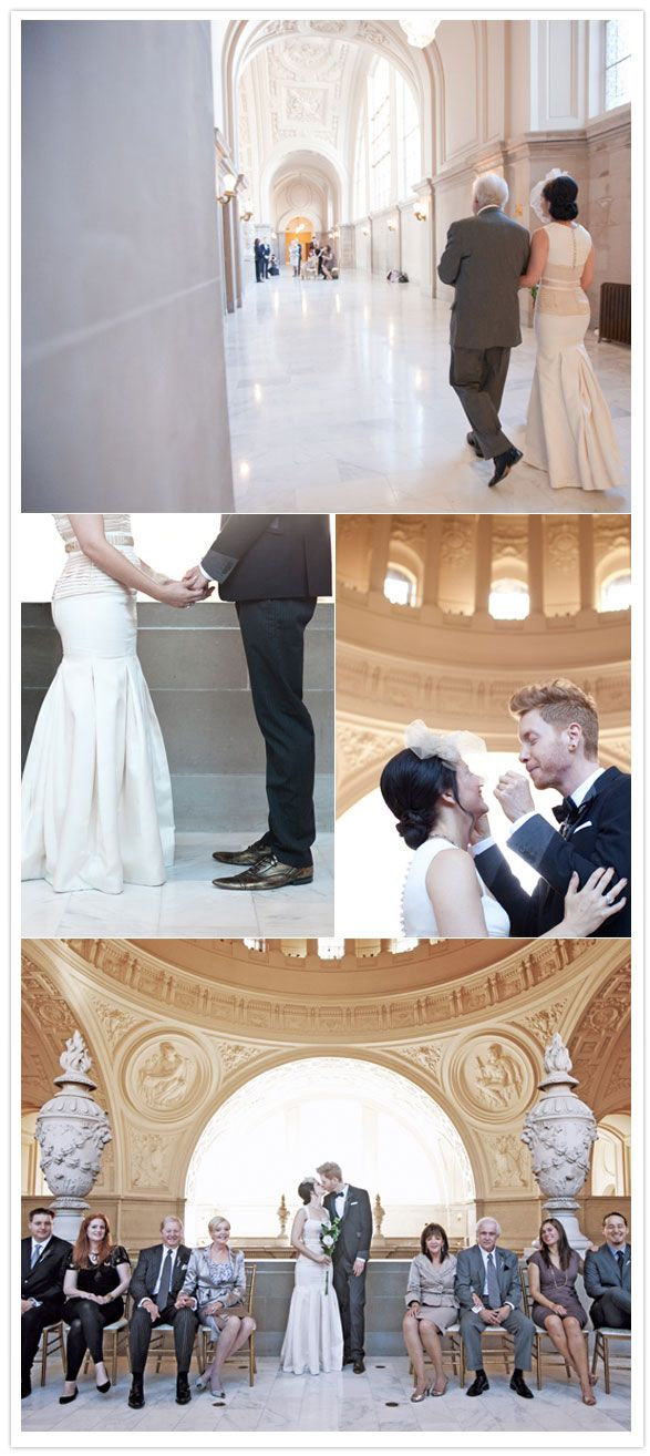 Courthouse wedding. Just like mine :) Easy and pretty.
