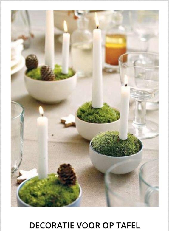 Kerstdecoratie voor tafel