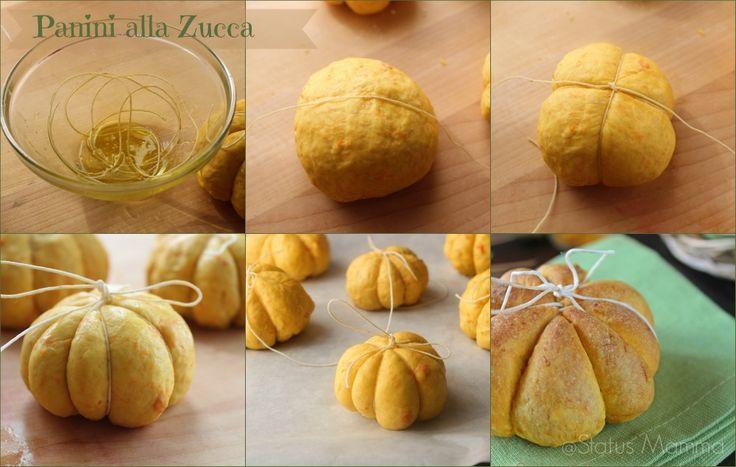 Fluffy pumpkin rolls dough - Panini alla zucca soffici lievitato Statusmamma giallozafferano blogGz Tutorial passo passo ricetta cucinare