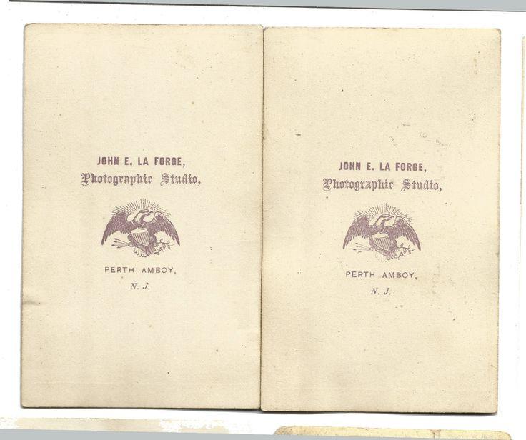 LOT of 2 CIVIL WAR Era Brothers PERIOD DRESS by JOHN E. LA FORGE, NJ 1860s CDV   eBay