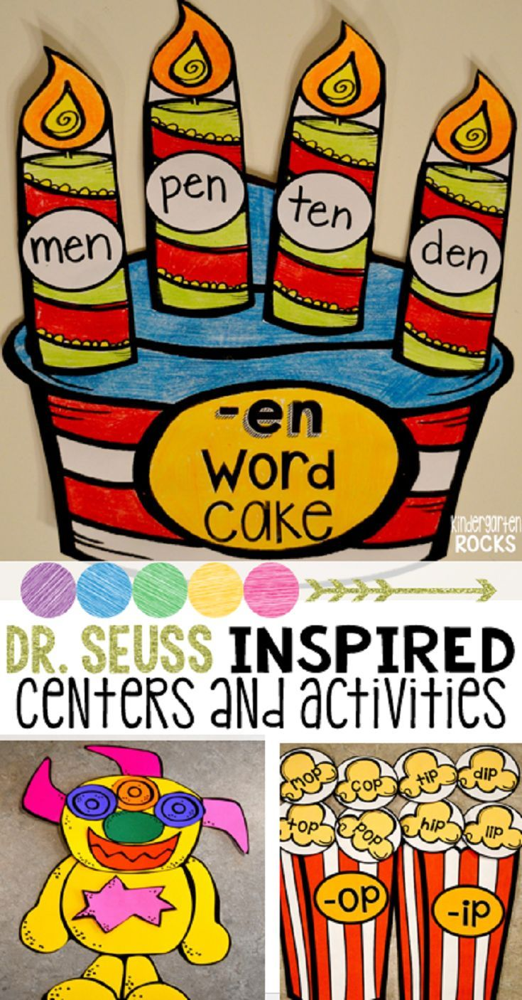 Dr. Seuss Inspired Activities and Centers is exactly what you need for math and literacy centers for February and March.  Students will build literacy and math skills and have fun at the same time.  This unit is perfect for  Read Across America.