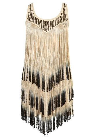 Fringed Party Dress By Topshop