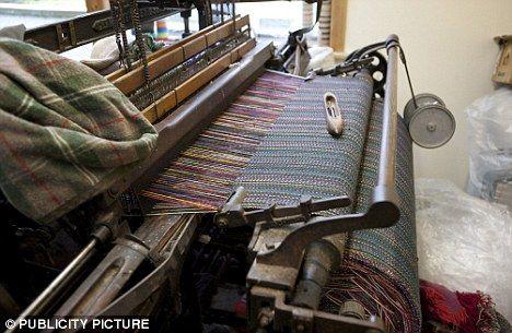 Harris Tweed - fabric on the loom