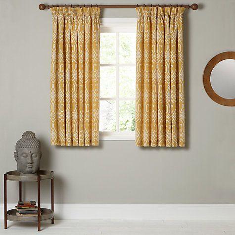 Buy John Lewis Saigon Lined Pencil Pleat Curtains Online at johnlewis.com