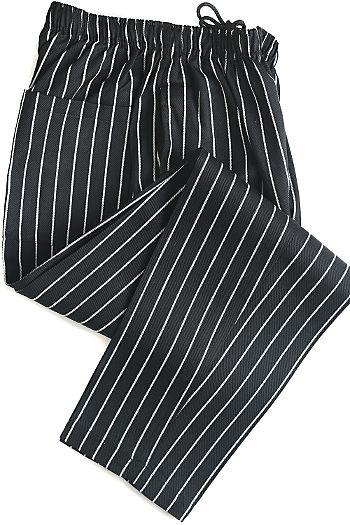 Yarn Dyed Chalk Stripe Baggy Chef Pants
