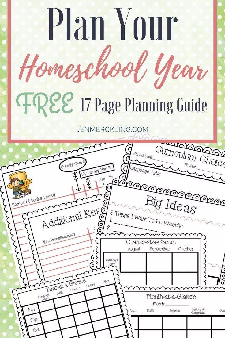 Free Homeschool Planner a LongRange View Homeschool