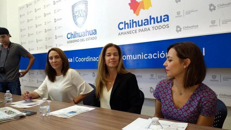 Chihuahua, Chih.- La secretaria de Innovación y Desarrollo Económico, Alejandra de la Vega,Teresa Piñón, directora de Comercio de la