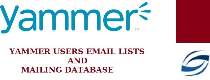 We at Technology User Lists help marketers with custom built Yammer users email list to enhance their b2b marketing campaigns. Our data is so accurate than existing data vendors in the market that it is compiled specifically to cater to customers' needs. It is constantly being monitored and updated by our research team to give you Yammer clients list. The data is compiled through trusted sources like business directories, state and federal public records, and hundreds of vendors.