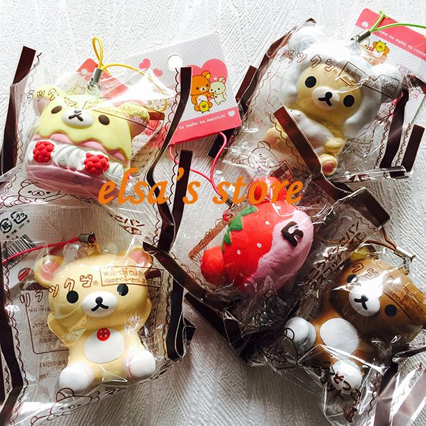 squishies wholesale 10pcs mixed Super squishy lot KAWAII RARE rilakkuma squishy charm toy PU TOKYO japan with tag Free Shipping-in Mobile Phone Straps from Phones & Telecommunications on Aliexpress.com | Alibaba Group
