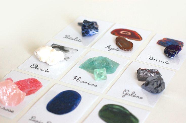 Étudier les minéraux ( + printables ) | Add fun and mix