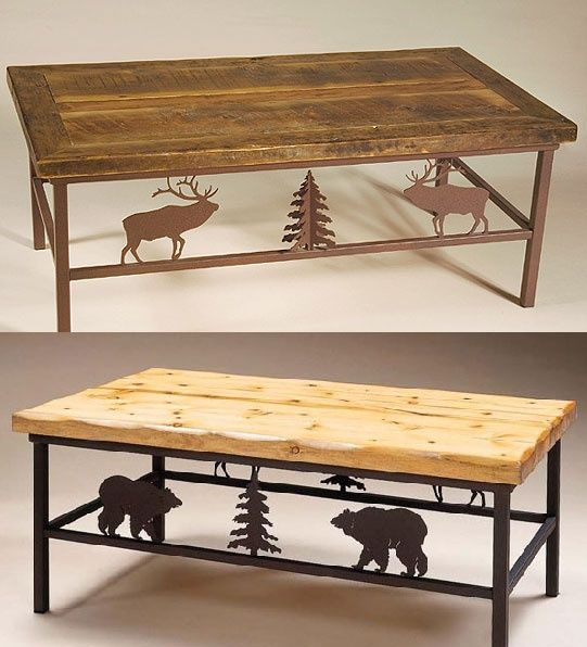 Rustic Profiles Coffee Table (Design Your Own)  - Buy at Lights in the Northern Sky.  Select profiles for your western, cabin, or southwestern decor.