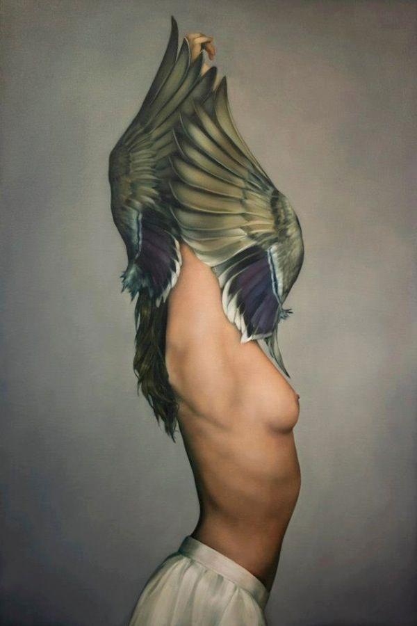 Amy Judd - Art - Peinture - Portrait - Animaux - Girls and birds