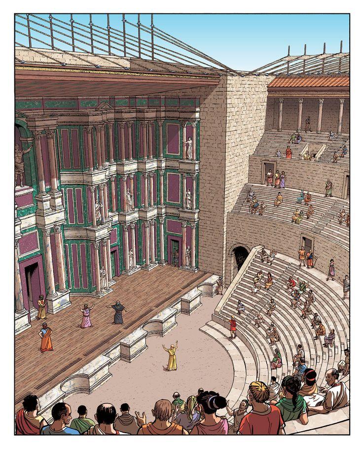 Provincial Romans enjoy the theater at Aquae Sextiae (Aix-En-Provence)