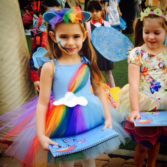 Rainbow Dash costume https://www.etsy.com/listing/222966764/rainbow-dash-tutu-dress                                                                                                                                                                                 More