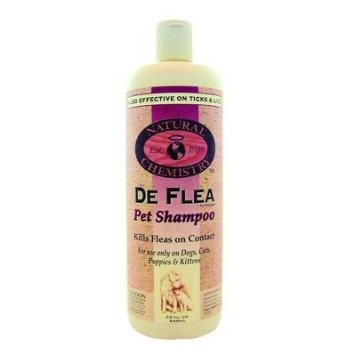 Natural Chemistry Deflea Shampoo 32oz.  These natural line of products are great and safe for our pets and us too!  They also have natural pool products too!