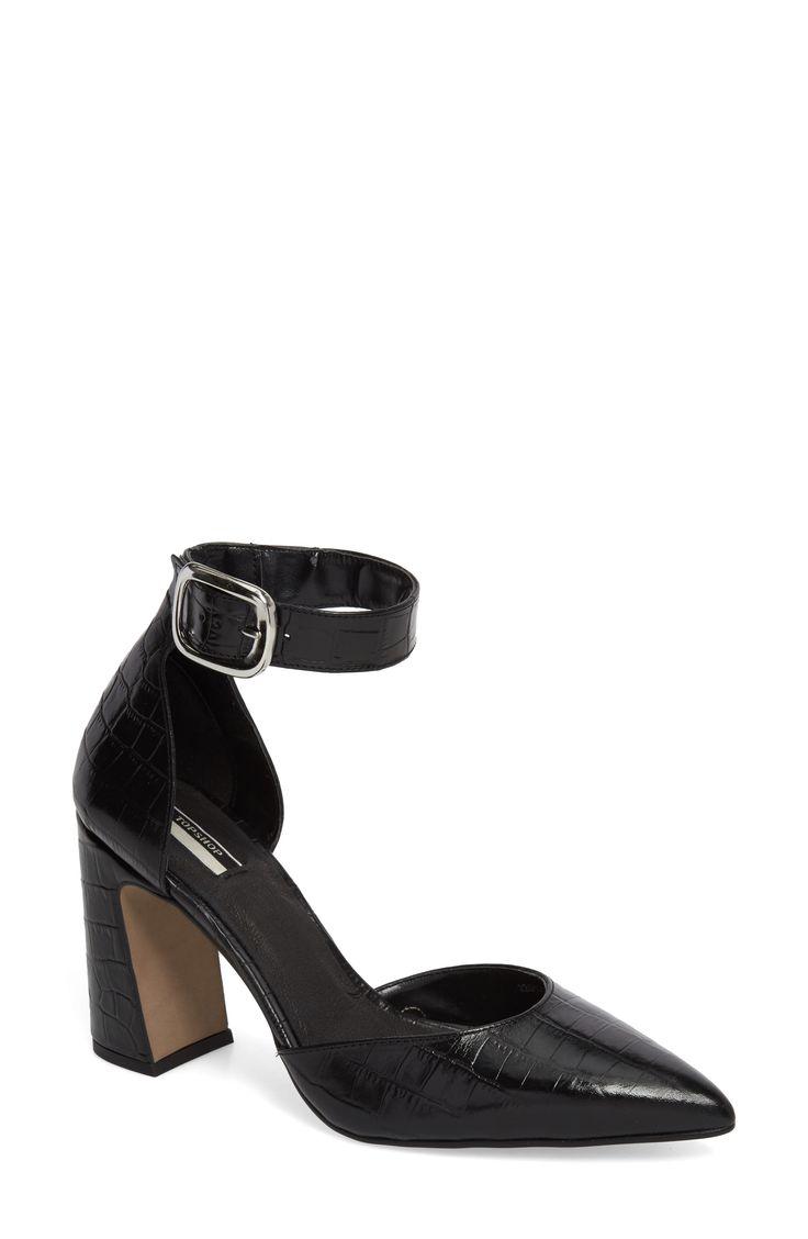 Buy TOPSHOP Geisha Ankle Strap Pump for shopping. New TOPSHOP Heels. [$120] SKU AKAH14477MPQE15891