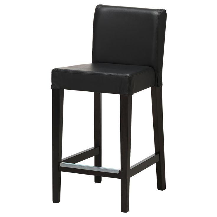 Ikea Henriksdal Bar Stool With Backrest Brown Black