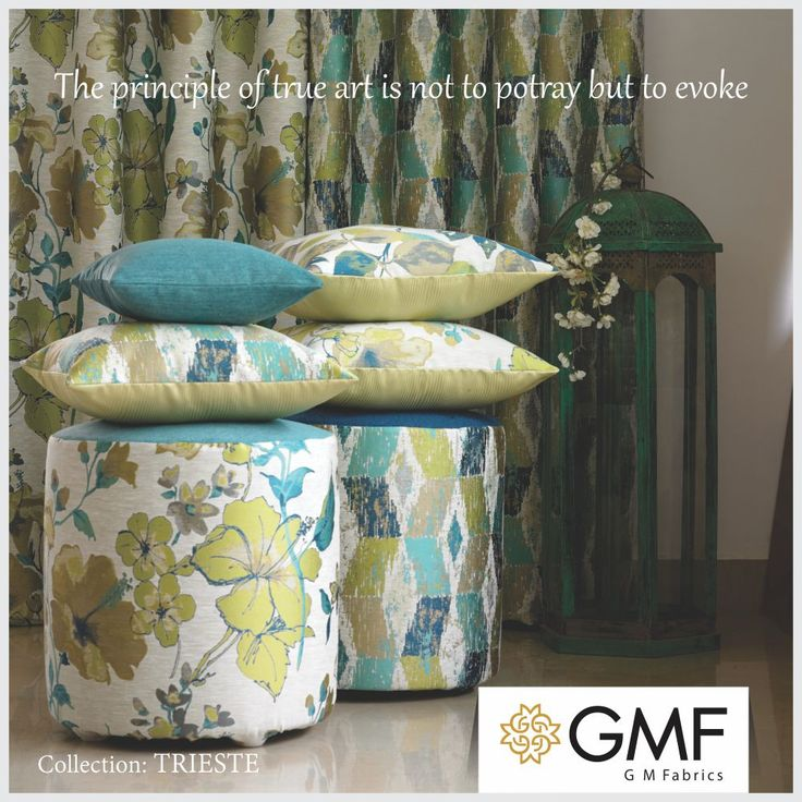 Groom your #Home and make it look stunning as ever #OnlyWithGMF!! Explore more on www.gmfabrics.com #HomeDecor #HomeFabrics #Cushions #Curtains #Furnishings #Interiors #GMF