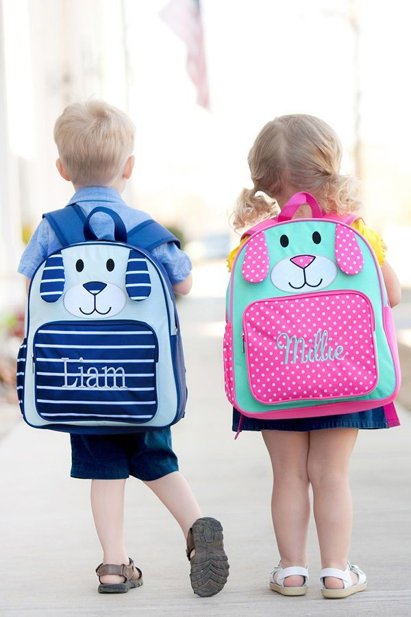 Personalized Preschool Puppy Backpacks - Send your little one off to  preschool sporting an adorable f45d0b63ffcab
