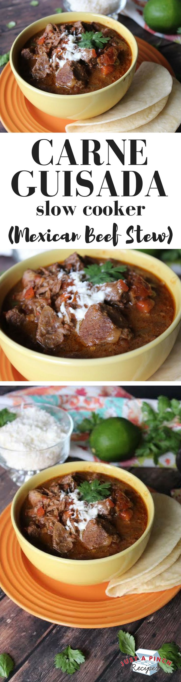 This recipe is so easy! Typically this Mexican stew is labor intensive and requires babysitting. Not this recipe, the slow cooker does all the hard work.