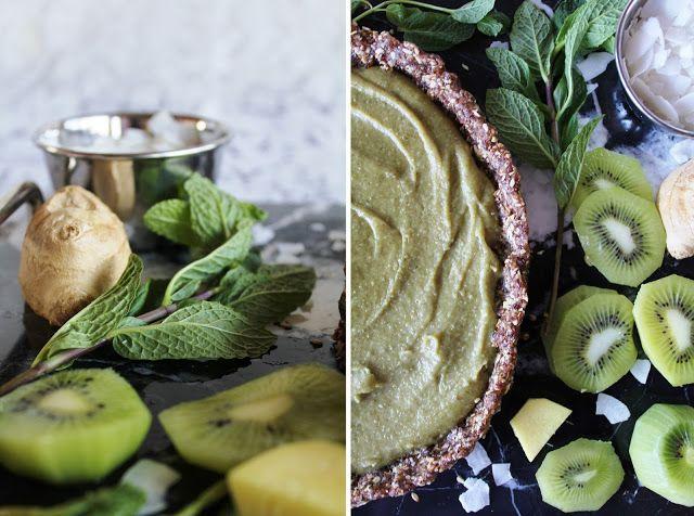 Веганский Нежданчик: Пирог с имбирно-мятным кремом