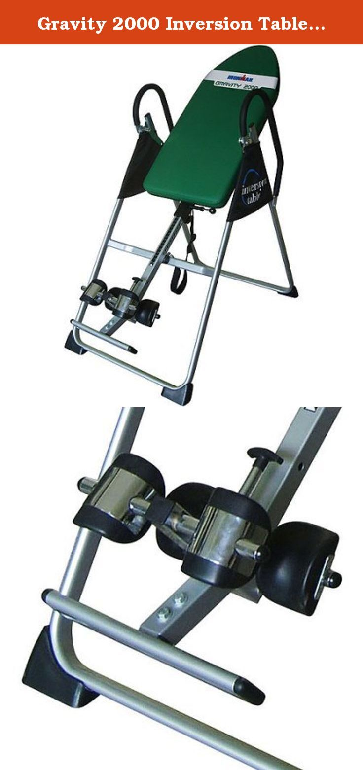 Gravity 2000 Inversion Table Fitness Workout Equipment Neck Back Pain Relief Chiropractic Therapy Invert Body Gravity Exercise Heavy Duty Machine Home Gym Health Club Dimension: 49 x 26 x 65 Inches. Gravity Inversion Table features long T-pull pin for easy release and non-skid floor stabilizer for stability. The two handle bars attached to the table provides support and grip. You can effortlessly fold the inversion table for easy storage. Foam, vinyl-covered backrest Extra long safety...