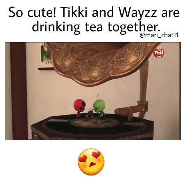 I wonder what would happen if Tikki and Plagg got together :) Also I just realized that it's ok for other miraculous holders to know each other's identity (or maybe it's just the guardian that can know)