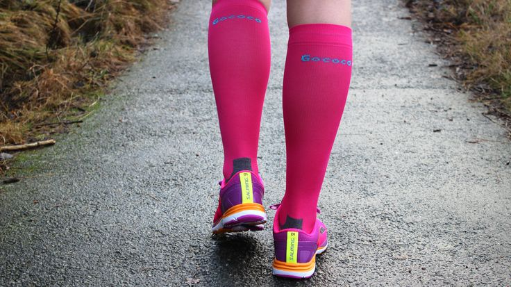 Compression socks from Gococo Cerise