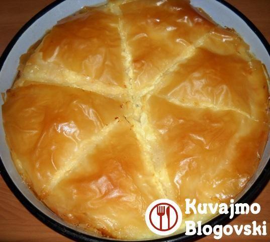 Pita sa sirom | Slane pite i rolati recepti |Kuvajmo B(l)ogovski – Recepti na lak način