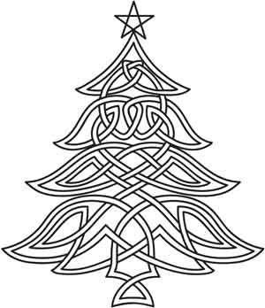 Celtic Christmas Tree | Urban Threads: Unique and Awesome Embroidery Designs