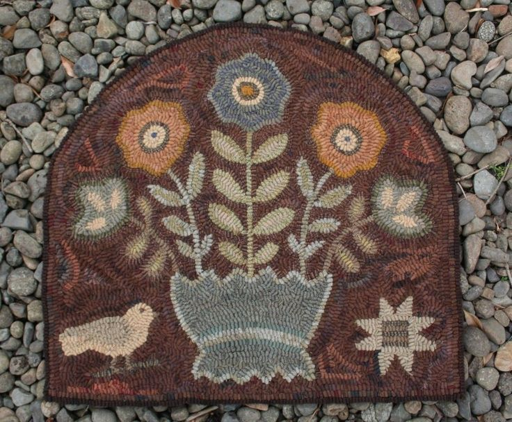 Early Style Vintage Inspired Primitive Hand Hooked Wool Rug By Maggiesfarm1846